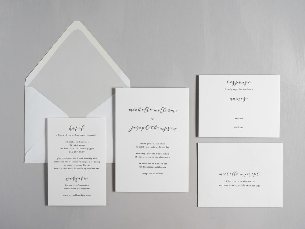 Delicate Minimalist Letterpress Wedding Invitations by Just Jurf-1.jpg
