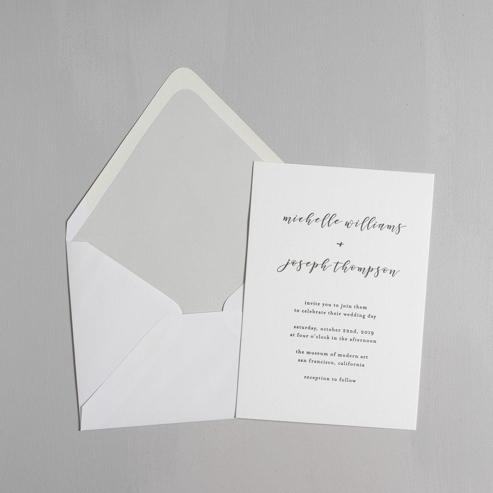 Delicate Minimalist Letterpress Wedding Invitations by Just Jurf-5.jpg