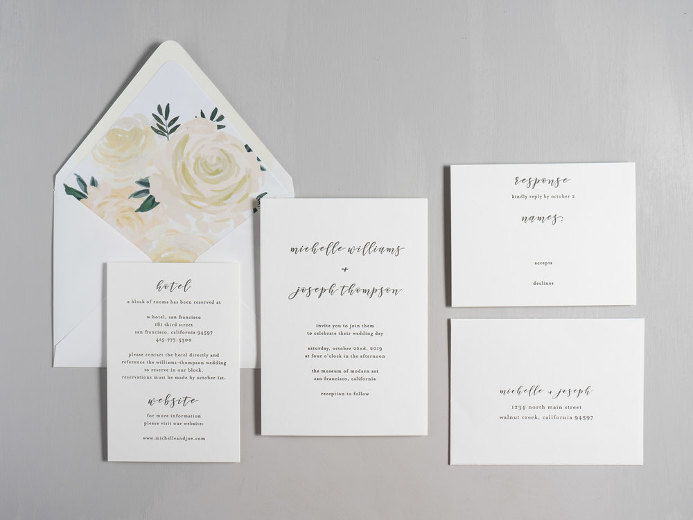 Minimalist Floral Letterpress Wedding Invitations by Just Jurf-1.jpg