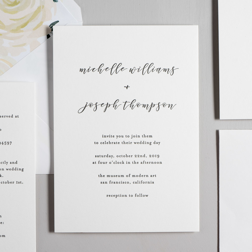 Minimalist Floral Letterpress Wedding Invitations by Just Jurf-2.jpg