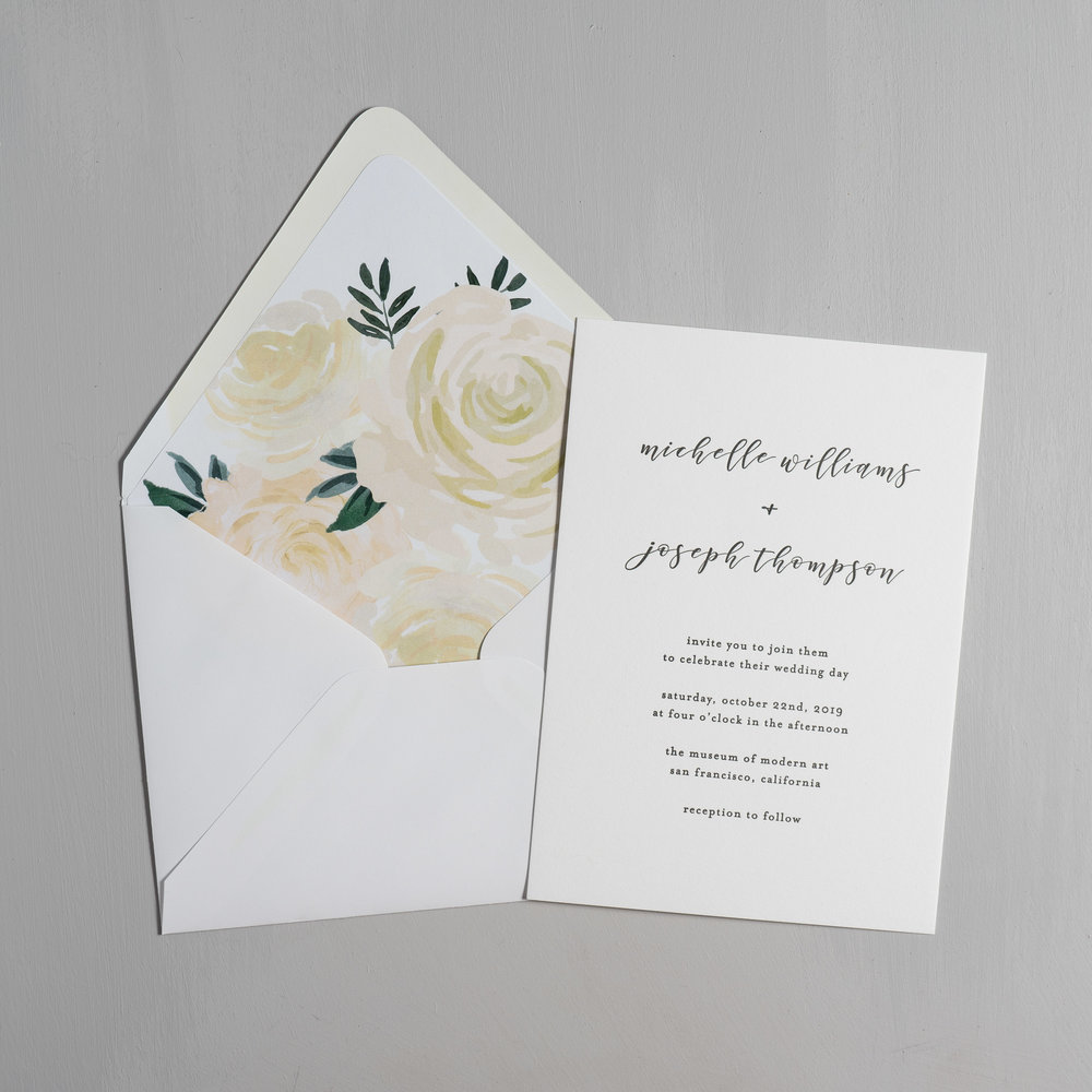 Minimalist Floral Letterpress Wedding Invitations by Just Jurf-5.jpg