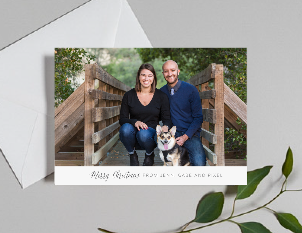 Minimalist Christmas Photo Holiday Card