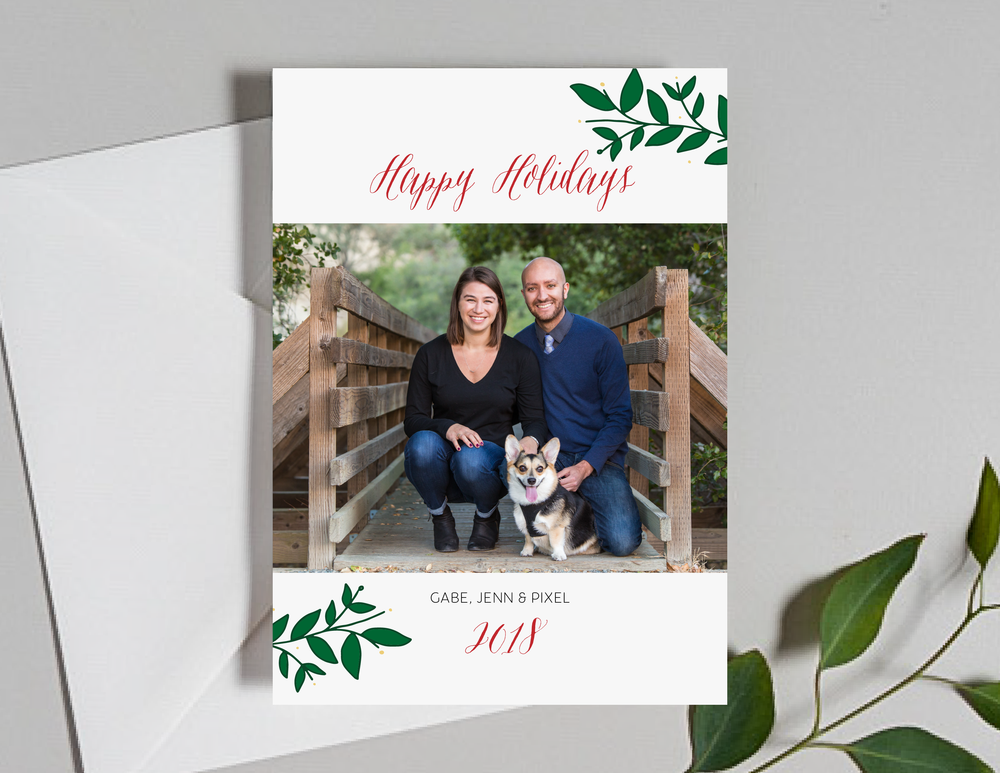Holiday Foliage Photo Holiday Cards