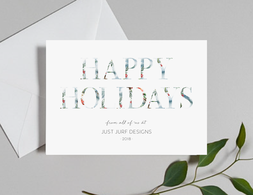 Holly Holidays Holiday Card