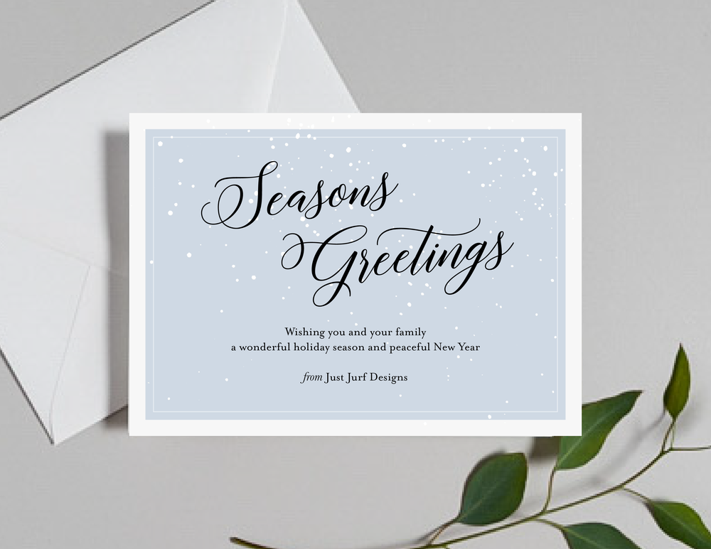 Snow Falling Holiday Cards