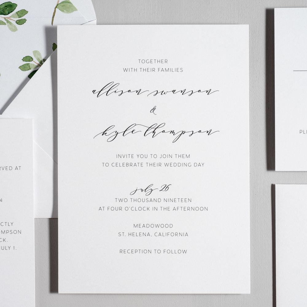 Modern Greenery Wedding Invitations by Just Jurf-2.jpg