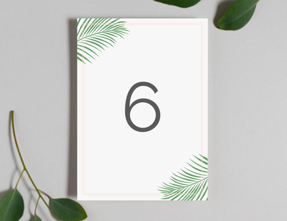 Soft Tropical Palm Leaf Table Numbers by Just Jurf-01.png
