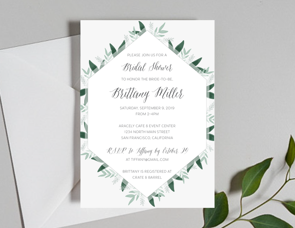 Romantic Green Leaf Monogram Shower Invitation by Just Jurf-01.png
