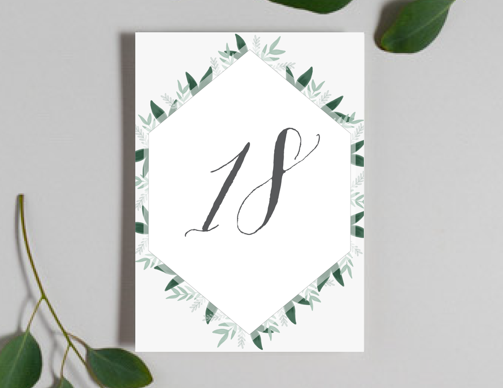Romantic Green Leaf Monogram Table Numbers by Just Jurf-01.png