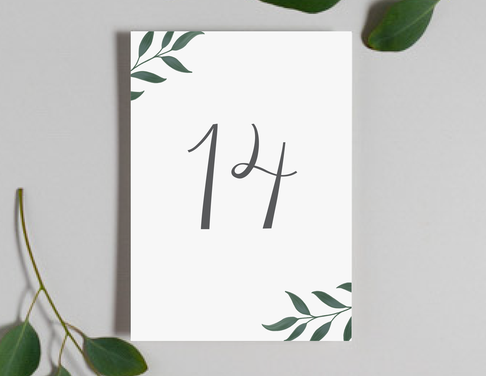 Botanical Leaf Table Numbers by Just Jurf-01.png