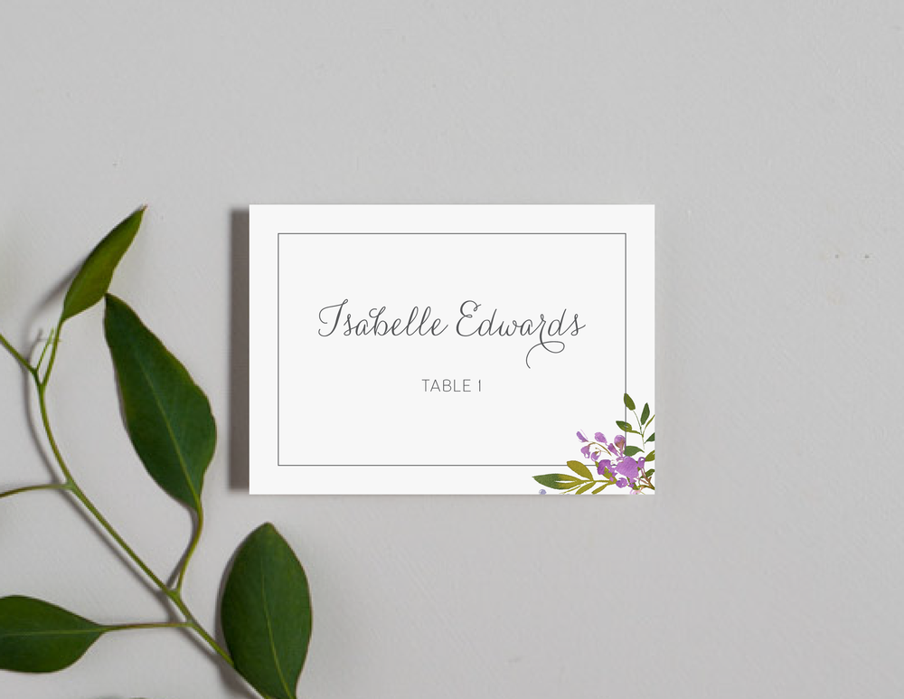 Purple Floral Monogram Place Cards by Just Jurf-01.png