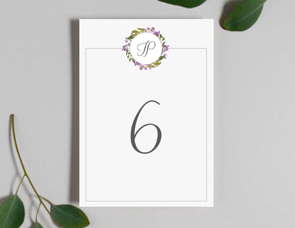 Purple Floral Monogram Table Numbers by Just Jurf-01.png