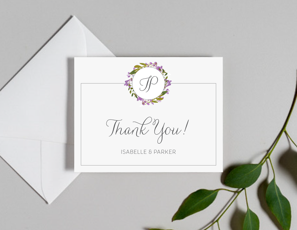 Purple Floral Monogram Thank You Cards by Just Jurf-01.png
