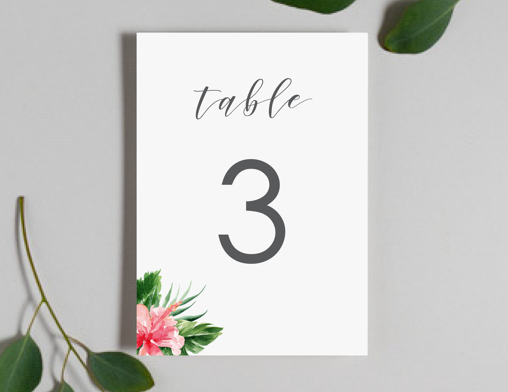 Tropical Floral Table Numbers by Just Jurf-01.png