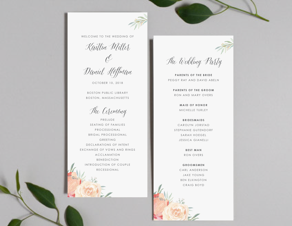 Modern Peach Watercolor Floral Programs by Just Jurf-01.png