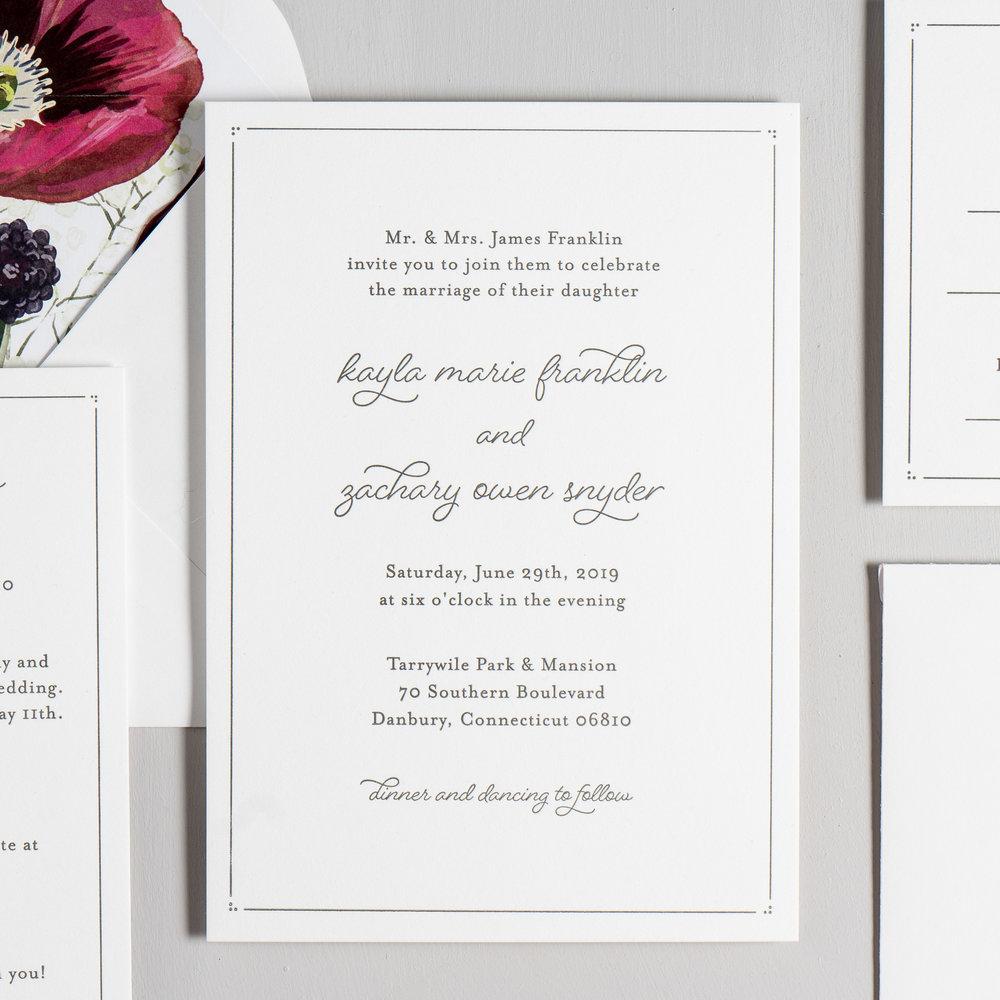 Burgundy Poppy Letterpress Wedding Invitations by Just Jurf-2.jpg