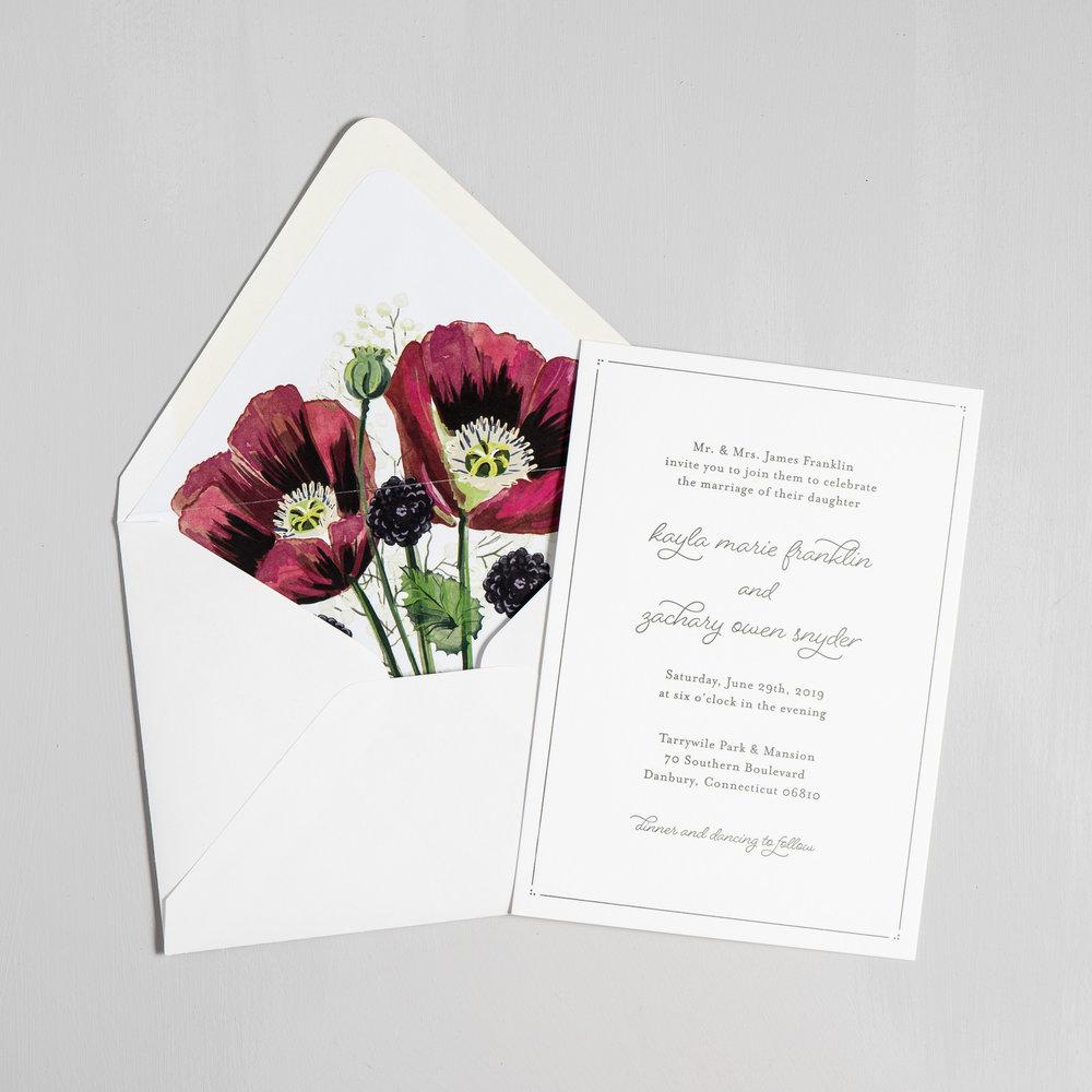 Burgundy Poppy Letterpress Wedding Invitations by Just Jurf-5.jpg