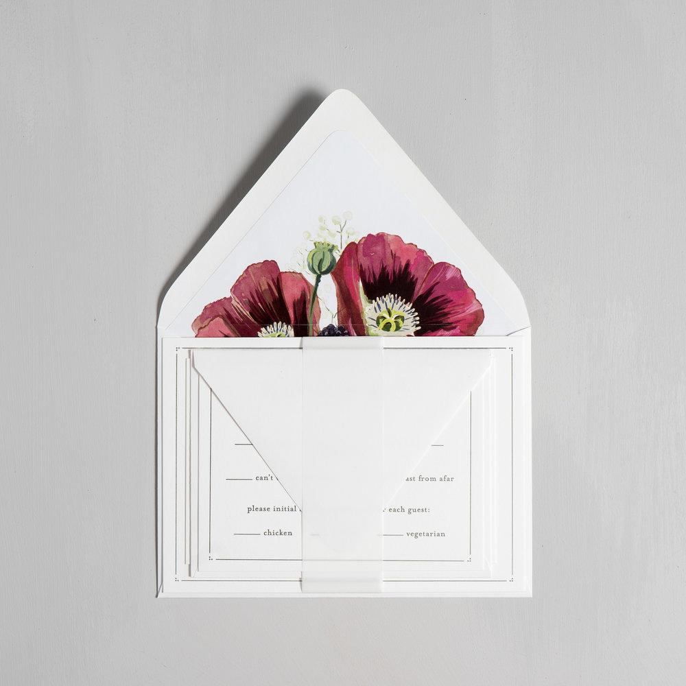Burgundy Poppy Letterpress Wedding Invitations by Just Jurf-10.jpg