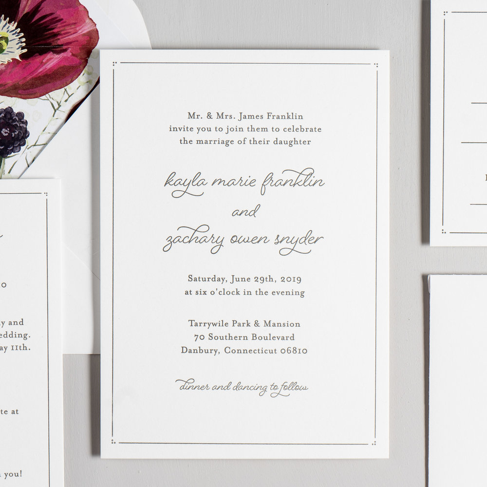 Burgundy Poppy Letterpress