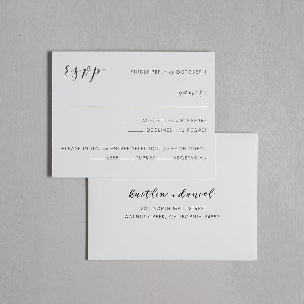 Simple Modern Script V2 Wedding Invitations by Just Jurf-6.jpg