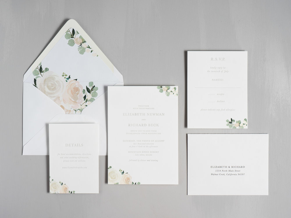 Elegant Blush Floral Letterpress Wedding Invitations by Just Jurf-1.jpg