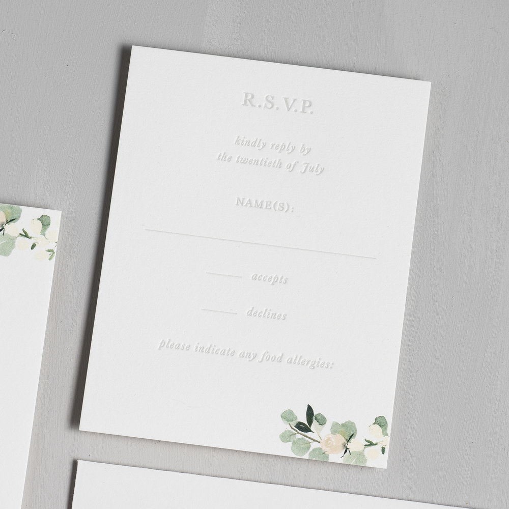 Elegant Blush Floral Letterpress Wedding Invitations by Just Jurf-4a.jpg