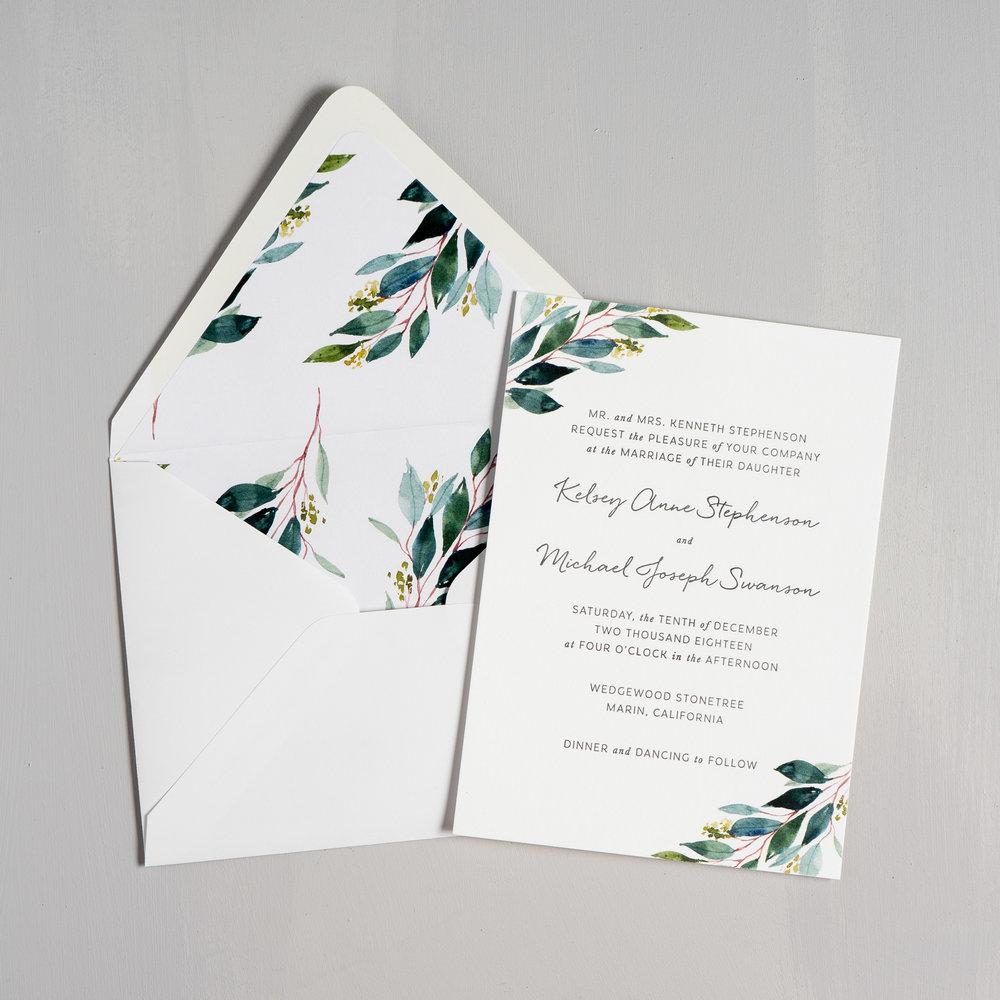 Botanical Greenery Letterpress Wedding Invitations by Just Jurf-5.jpg