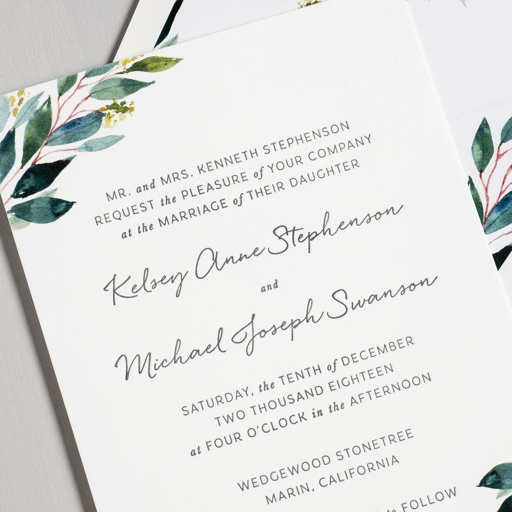Botanical Greenery Letterpress Wedding Invitations by Just Jurf-8.jpg