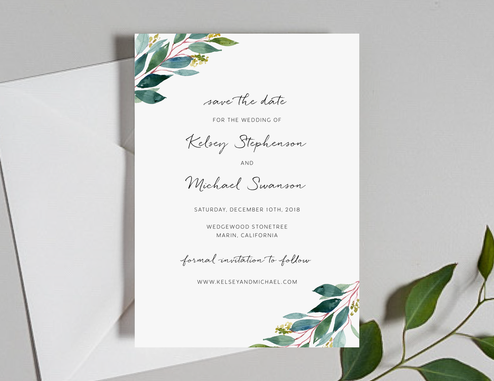 Botanical Greenery Save the Dates by Just Jurf-01.png