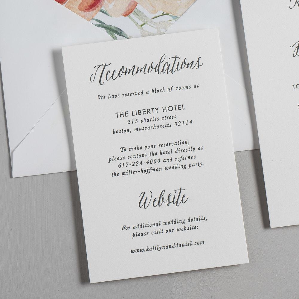 Modern Peach Watercolor Floral Letterpress Wedding Invitations by Just Jurf-3.jpg