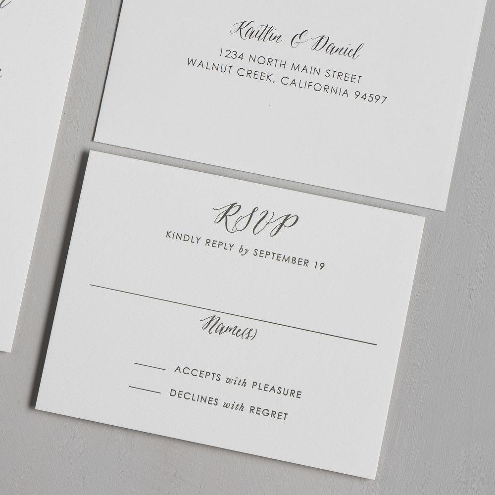 Modern Peach Watercolor Floral Letterpress Wedding Invitations by Just Jurf-4.jpg