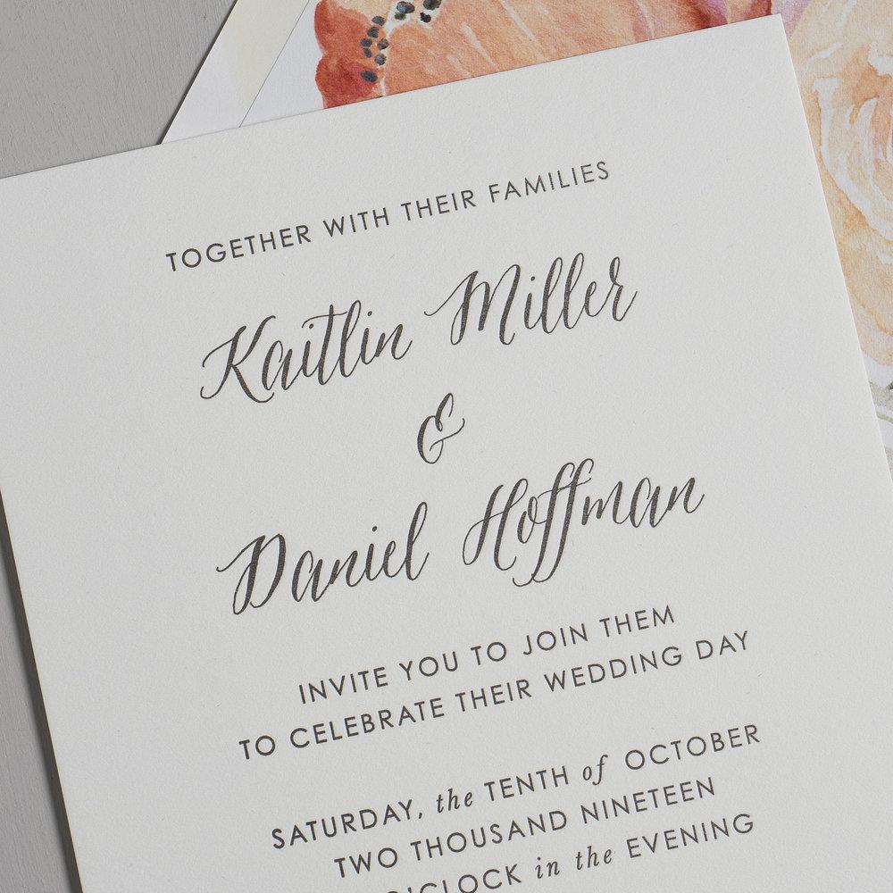 Modern Peach Watercolor Floral Letterpress Wedding Invitations by Just Jurf-8a.jpg