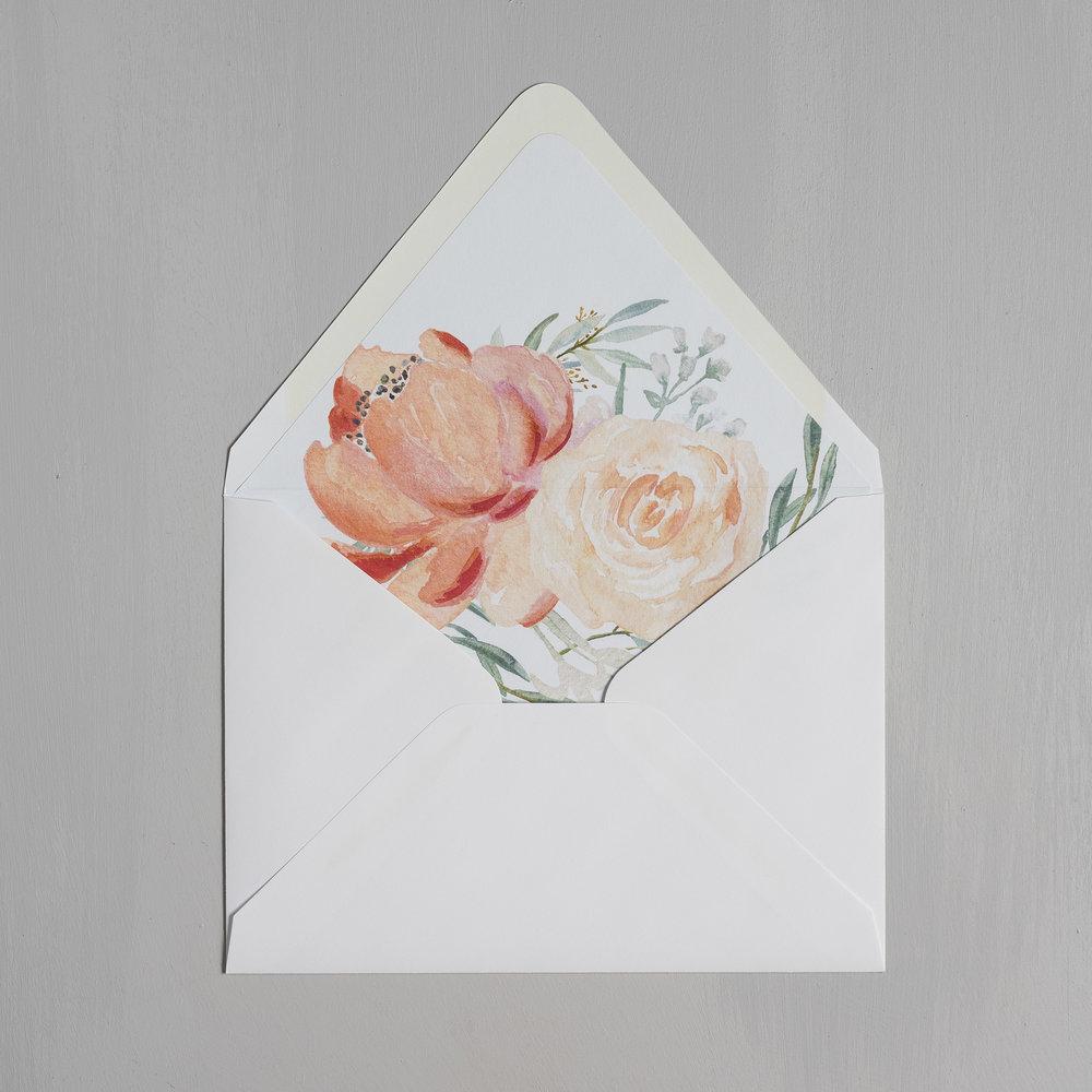 Modern Peach Watercolor Floral Letterpress Wedding Invitations by Just Jurf-9.jpg