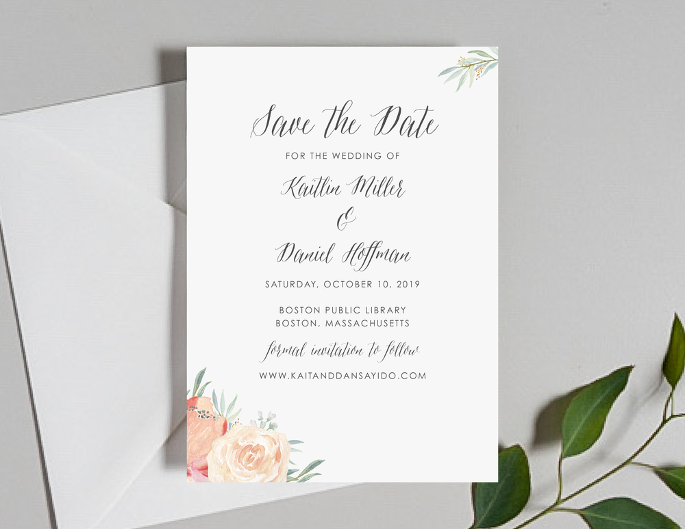 Modern Peach Watercolor Floral Save the Dates by Just Jurf-01.png
