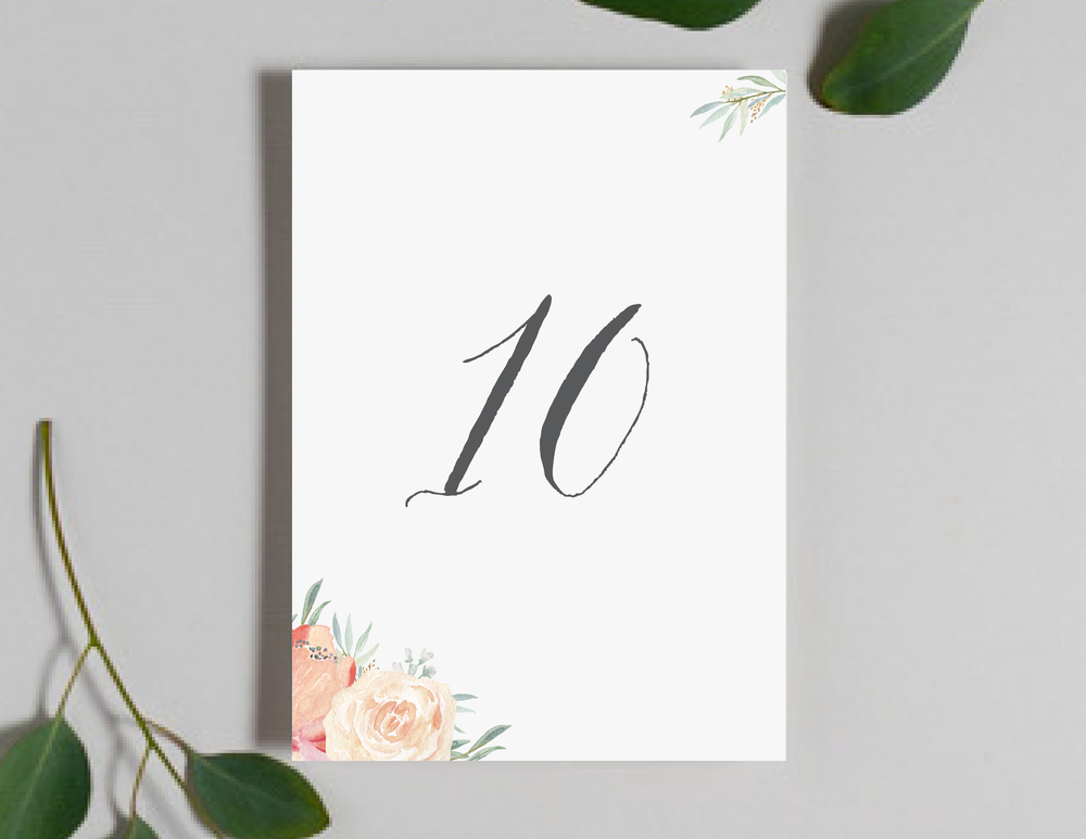 Modern Peach Watercolor Floral Table Numbers by Just Jurf-01.png