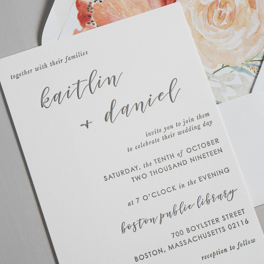*Simple Modern Script V2 Letterpress Wedding Invitations by Just Jurf-8a.jpg