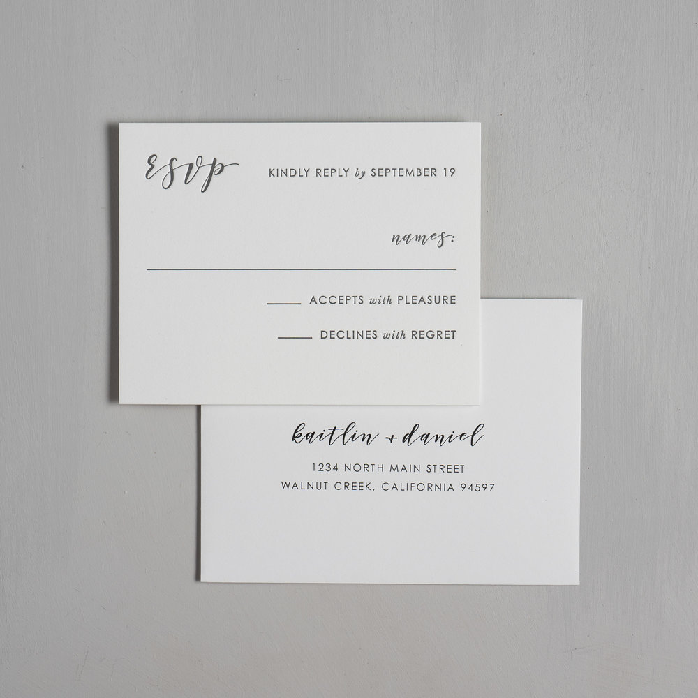 Simple Modern Script V2 Letterpress Wedding Invitations by Just Jurf-6.jpg