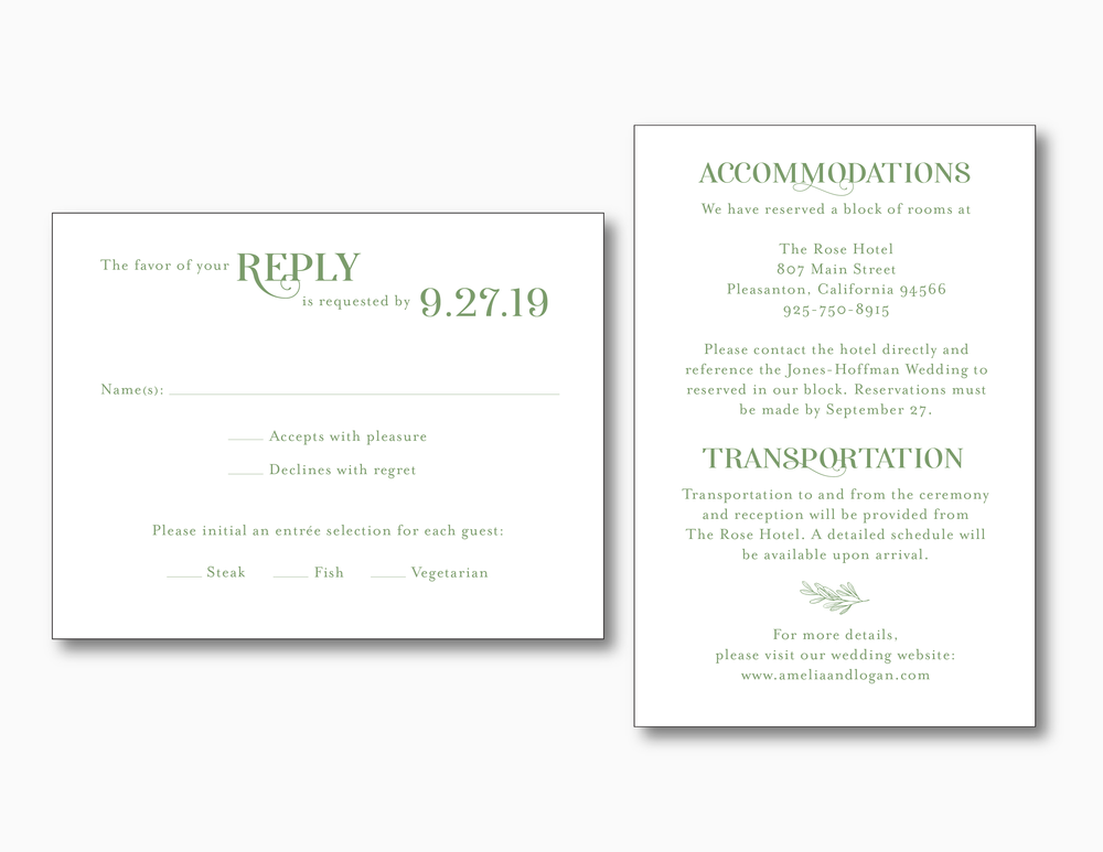 Olive Green Wedding Invitation by Just Jurf