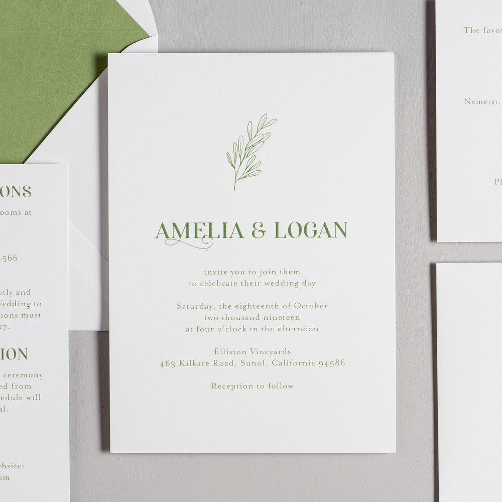 Olive Green Leaf Wedding Invitations by Just Jurf-2.jpg