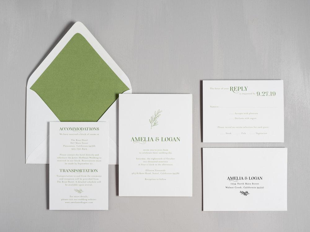 Olive Green Leaf Wedding Invitations by Just Jurf-1.jpg
