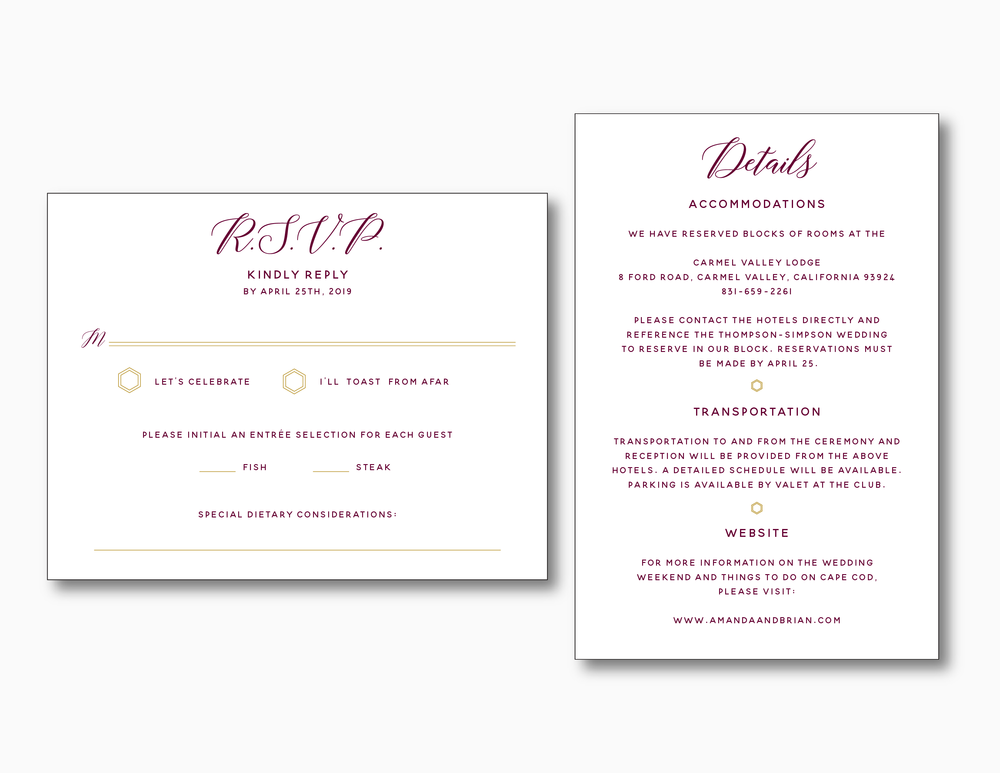 Elegant Burgundy Floral Wedding Invitation by Just Jurf