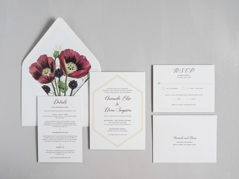 Elegant Burgundy Floral Wedding Invitations by Just Jurf-1.jpg