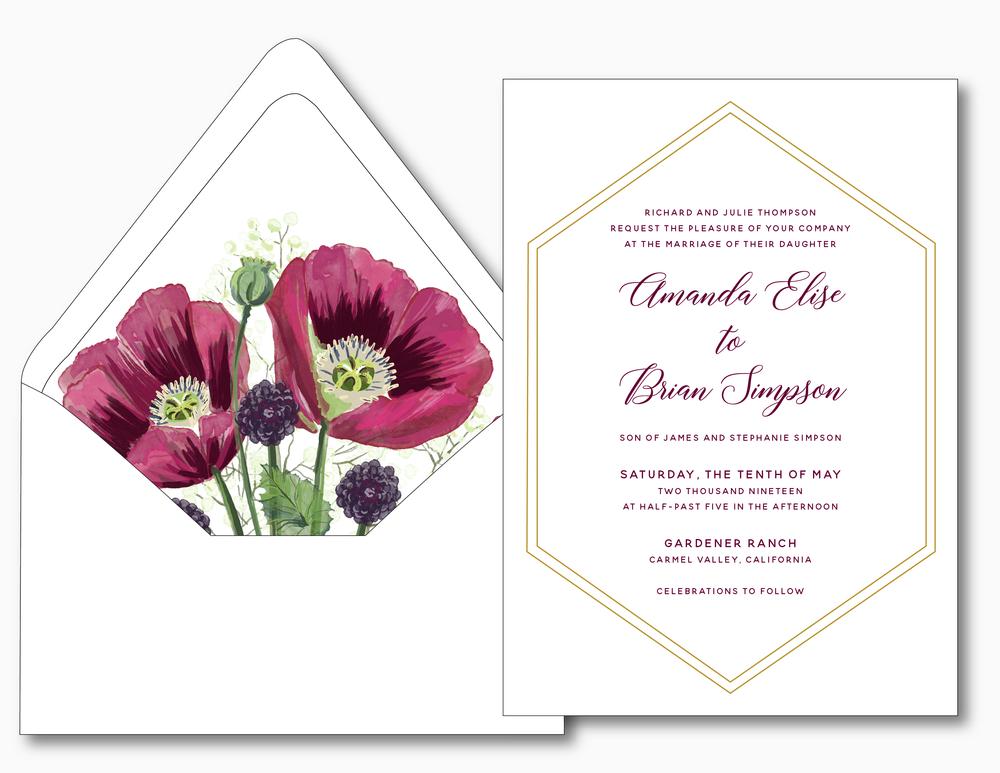 Elegant Burgundy Floral