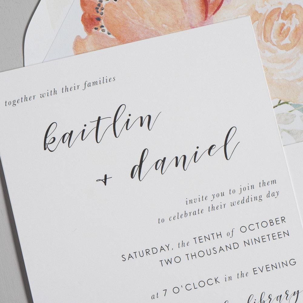 Simple Modern Script V2 Wedding Invitation Suite by Just Jurf