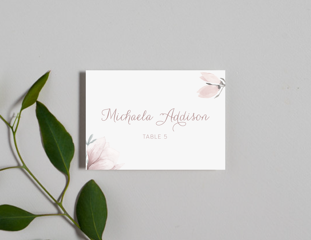 Pink Magnolia Floral Place Cards by Just Jurf-01.png