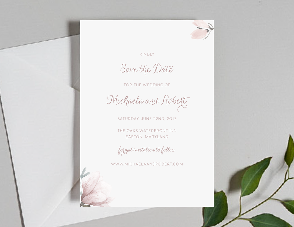Pink Magnolia Floral Save the Dates by Just Jurf-01.png