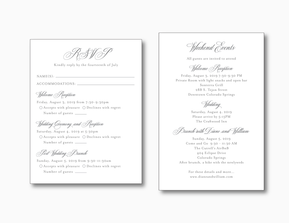 Classic Mountain Wedding Invitation Suite by Just Jurf