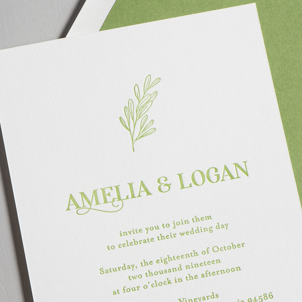 Olive Green Leaf Letterpress Wedding Invitations by Just Jurf-8.jpg