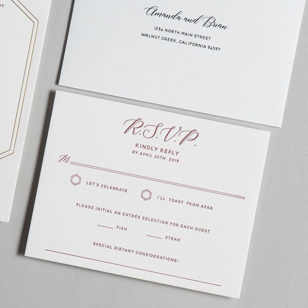 Elegant Burgundy Floral Letterpress Wedding Invitations by Just Jurf-4.jpg