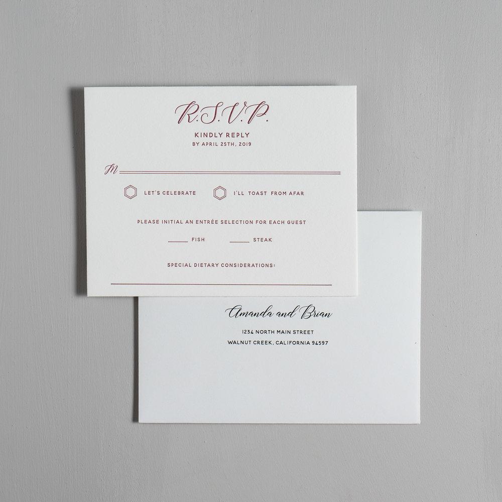 Elegant Burgundy Floral Letterpress Wedding Invitations by Just Jurf-6.jpg